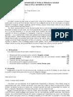 Evaluare semestrială la limba şi literatura română