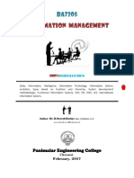 2017 Unit-I Information Management by Dr.K.Suresh Kumar, PEC