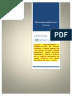 Estudio Hidrologico Jauja - Av. Xauxa (1)