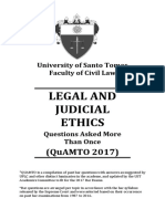 Legal Ethics QuAMTO 2017