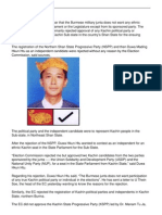 Kachin Party Independents Denied Ec Approval