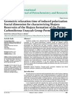 Geometric Relaxation Time of Induced Polarization Fractal Dimension for Characterizing Shajara Reservoirs of the Shajara Formation of the Permo