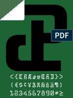 Monospaced Typeface | 2017