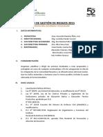 Plan de Gestion de Riesgos de Desastres - 2013