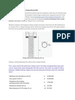 Contoh Perhitungan Biaya Pondasi Bored Pile Dan Alat Berat