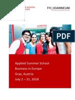 Applied Summer School 2018 v1