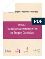 Module 4 Essential Components of ANC and EMOC Fistula Care