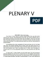 PLENARY V