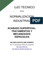 Dibujo Tecnico Acabado Superficial Tratamientos y Mecanizados Especiales