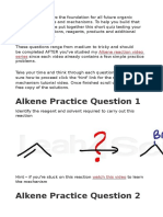 Alkene Practice Question
