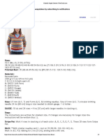 Colorful Striped Sweater _ FaveCrafts