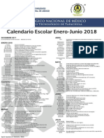 Cartel Calendario Escolar Ene-jun 2018