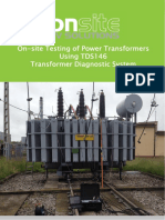 On-site Testing of Power Transformers TDS 146 - 201602