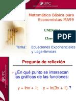 Clase 15.1 MBE Ecuaciones Logarítmicas y Exponenciales