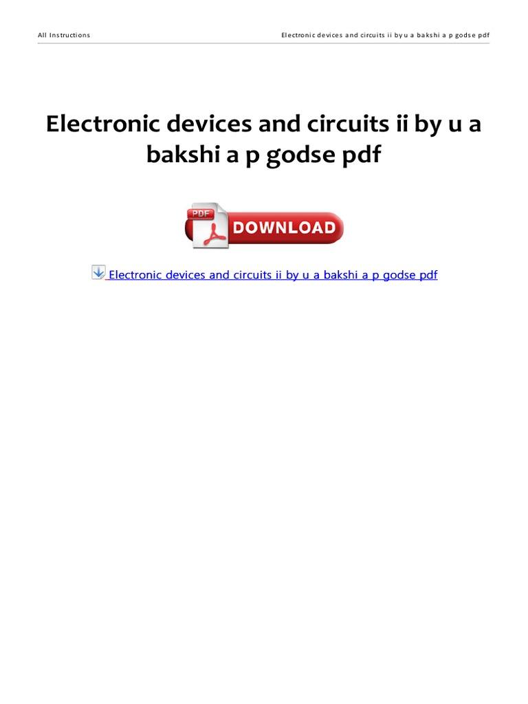 Digital Logic Circuits By Godse Ebook