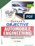 Objective Automobile Engineering by P. K. Mishra (Upkar Publication)