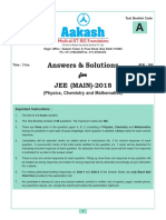JEE Main 2018 Code a Solution by Aakash Institute