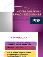3. Metode Dan Teknik Promosi Kesehatan Rs