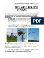 Innovative Wind Turbine Designs