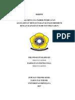 Pra Rencana Pabrik Pembuatan Asam Asetat
