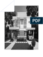 Modern House Design 2 Gray Scale
