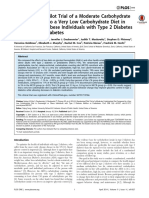 A Randomized Pilot Trial of a Moderate Carbohydrate Diet Compared to a Very Low Carbohydrate Diet in Overweight