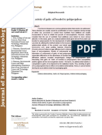 Antimicrobial activity of garlic oil bonded to polypropylene