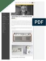 Dieter Rams e os 10 Princípios do Bom Design - Revista Cliche