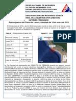 Acelerogramas Del Sismo de Lomas, Arequipa Del 14 de Enero de 2018