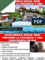 Inteligencia Social Para La Prevención de Violencia y Una Convivencia en Paz