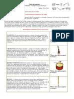 Guía de Música. Instrumentos Musicales de Chile