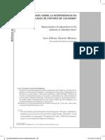 LECTURA 4 REPRESENTACIONES SOBRE LA INDEPENDENCIA EN LOS MANUALES DE HISTORIA DE COLOMBIA.pdf