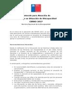 Protocolo Para Atención de Personas en Situación de Discapacidad - CENSO 2017