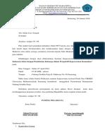 Surat Sekda Peminjaman Gedung