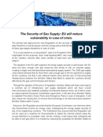 The Security of Gas Supply - E.U.