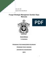 Fungsi Strategis Manajemen Sumber Daya Manusia