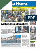 Diario La Hora de Ambato, Tungurahua, Ecuador 14-08-2014 Penoso Rescate de Víctimas.