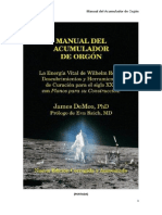 Manual Del Acumulador de Orgón James DeMeo Tercera Edición