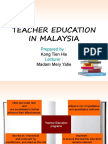Teacher Education in Malaysia Pp