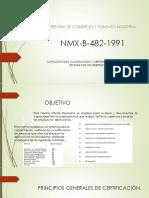 Nmx b 482 1991 Exposición