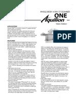 Aquilion One Datasheet