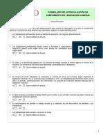 II.2 Formulario de Autoevalulacion de Cumplimiento de Legislación Laboral (Jan 31 2011)