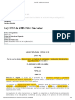 Ley 1757 de 2015 Nivel Nacional