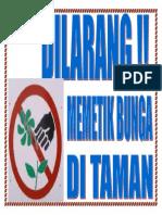 dilarang memetik bunga