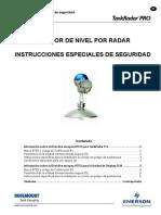 Tankradar Pro Special Safety Instruction Es 80776