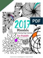 Mandala Coloring Calendar