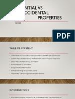 Essential Vs Accidential Properties