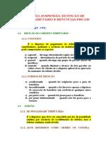 EXCLUSÃO, SUSPENSÃO, EXTINÇÃO DE CRÉDITO TRIBUTÁRIO E RENUNCIAS FISCAIS.doc
