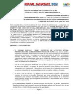 contrato proyecto de inversion