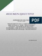 Resumen Ejecutivo  de proyecto de inversión